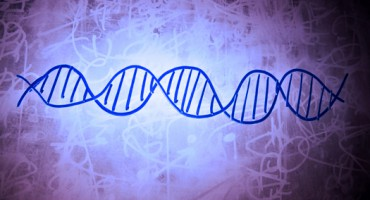DNA symbol on dirty school board