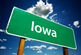 Iowa Road Sign