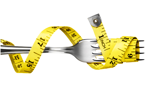 Tape measure on a fork