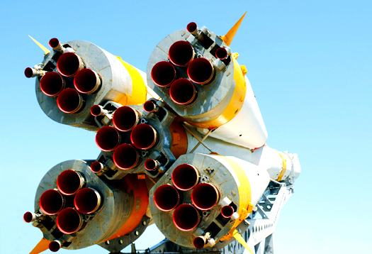 Nozzles of Soyuz Spacecraft