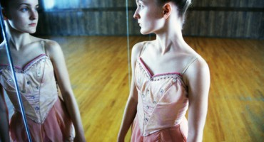 Ballerina Looking in Mirror
