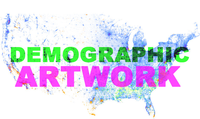 """Many have described it as demographic artwork,"" says Qian Cai, director of the Demographics and Workforce Group. ""What makes this map stand out is that each point is color-coded by race and ethnicity information contained in census data."" (Credit: Racial Dot Map/University of Virginia)"