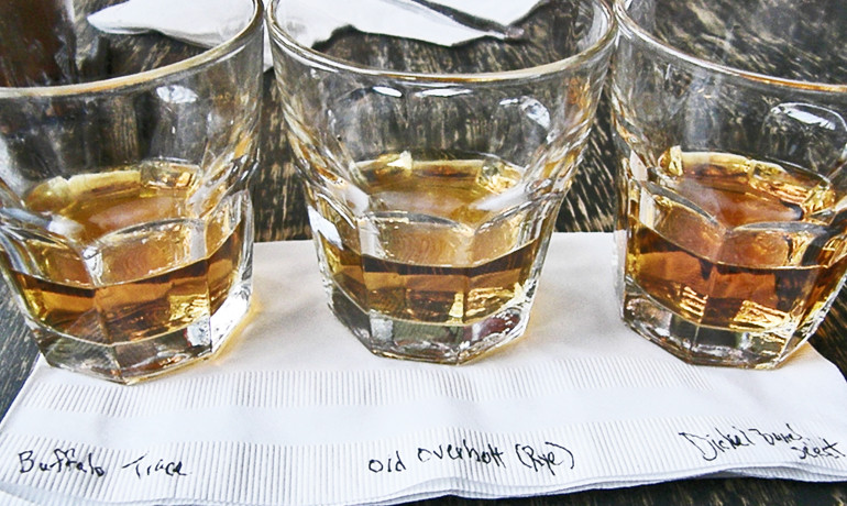 The chemical analyses indicated that the bourbons were readily differentiated from some Tennessee whiskeys and American blended whiskeys, but were not well separated from rye whiskeys, many of which were produced in distilleries that also make bourbon whiskeys, the study shows. (Credit: Dan4th Nicholas/Flickr)