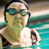senior woman swimming