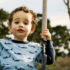 toddler on swing