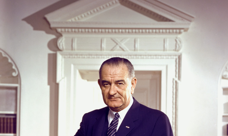 "Lyndon B. Johnson, who scored highest on markers of grandiose narcissism, was ""assertive and good at managing crises and at getting legislation passed,"" says Scott Lilienfeld. ""He also had a reputation for being a bit of a bully and antagonistic."" (Credit:"
