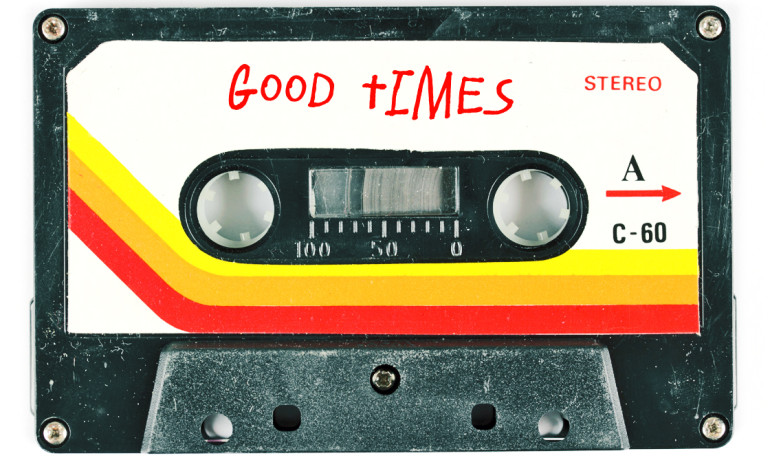 """Memories of the past can help to maintain current feelings of self-worth and can contribute to a brighter outlook on the future,"" says Tim Wildschut. ""Our findings do imply that nostalgia, by promoting optimism, could help individuals cope with psychological adversity."" (Credit: ""cassette"" via Shutterstock, font by Fonthead Design/FontSquirrel)"