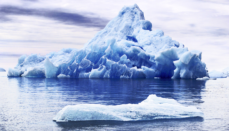 Researchers have known for years about Heinrich Events, periods of extreme cold in the North Atlantic. They occurred during the last ice age when immense icebergs broke loose from glaciers, and as they melted, deposited debris on the sea floor. (Credit: Osccarr/Flickr)