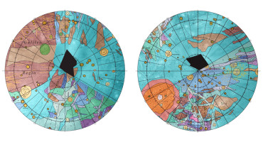 The new chart will be a valuable tool for researchers to compare the geologic characters of other icy moons, since almost any type of feature that is found on other icy satellites has a similar feature somewhere on Ganymede. (Credit: US Geological Survey)