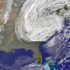 """Our model predicted storm paths with 100-kilometer—50-mile—accuracy four to five days ahead of landfall for Hurricane Sandy,"" says Fuqing Zhang. ""We also had accurate predictions of Sandy's intensity."" (Credit: NOAA/NASA GOES Project)"