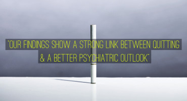 """We don't know if their mental health improves first and then they are more motivated to quit smoking or if quitting smoking leads to an improvement in mental health,"" says Patricia Cavazos-Rehg. ""But either way, our findings show a strong link between quitting and a better psychiatric outlook."" (Credit: Joe Philipson/Flickr, font by Tyler Finck/FontSquirrel)"