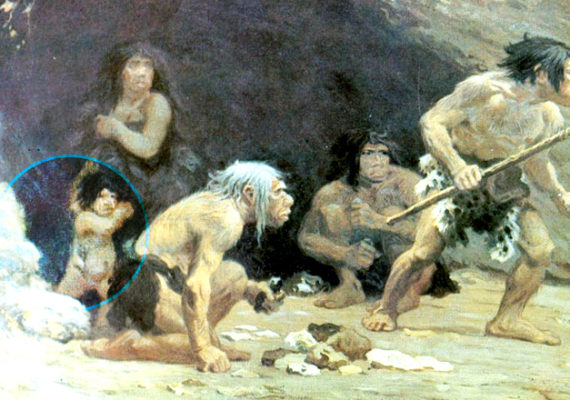 """Interpretations of high activity levels and frequent periods of scarcity form part of the basis for a perceived harsh upbringing among Neanderthal children, says Penny Spikins. """"There is a critical distinction to be made between a harsh childhood and a childhood lived in a harsh environment."""" (Credit: Charles R. Knight via Wikimedia Commons)"""