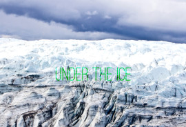 """""""The ice sheet on top of the soil has not disappeared in the time in which humans became a species,"""" says Paul Bierman. """"But if we keep on our current trajectory, the ice sheet will not survive. And once you clear it off, it's really hard to put it back on."""" (Credit: Joshua Brown/U. Vermont, Tyler Finck/FontSquirrel)"""
