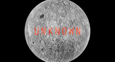 "When meteoroids struck the far side of the moon, in most cases the crust was too thick for them to do much damage—so the dark side of the moon was left with valleys, craters, and highlands, but almost no maria—those dark ""seas"" that give the near side of the moon its face. (Credit: NASA)"
