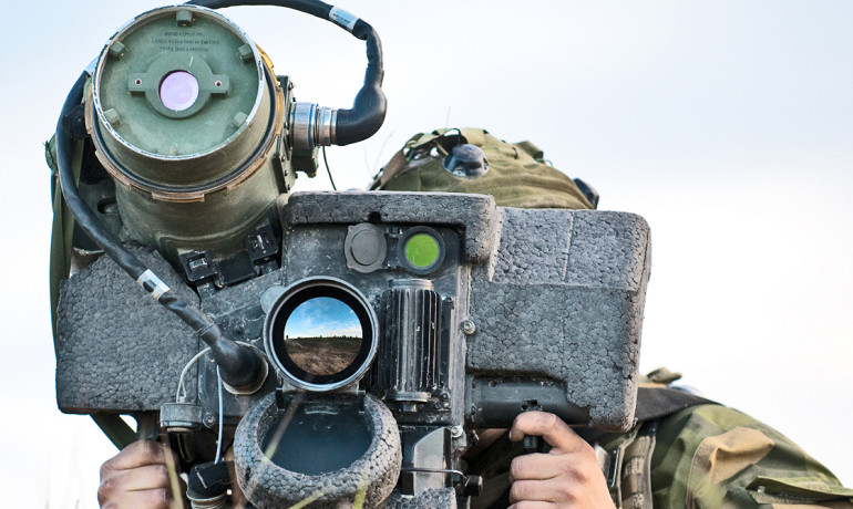 Javelin missile launcher