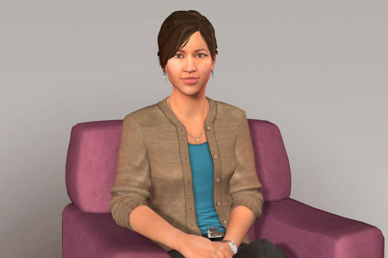 "Ellie the virtual human ""medical screener"""