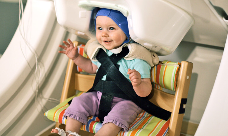 baby in a brain scanner