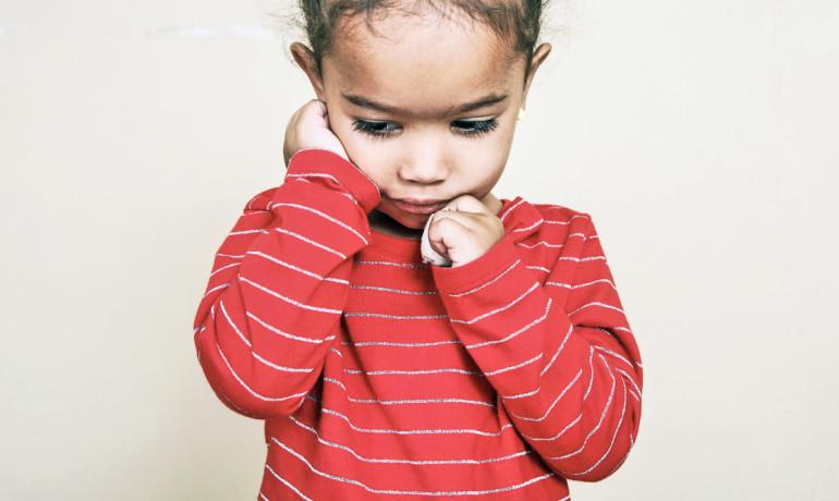 preschooler looks depressed