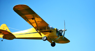 Piper Cub UAV flying