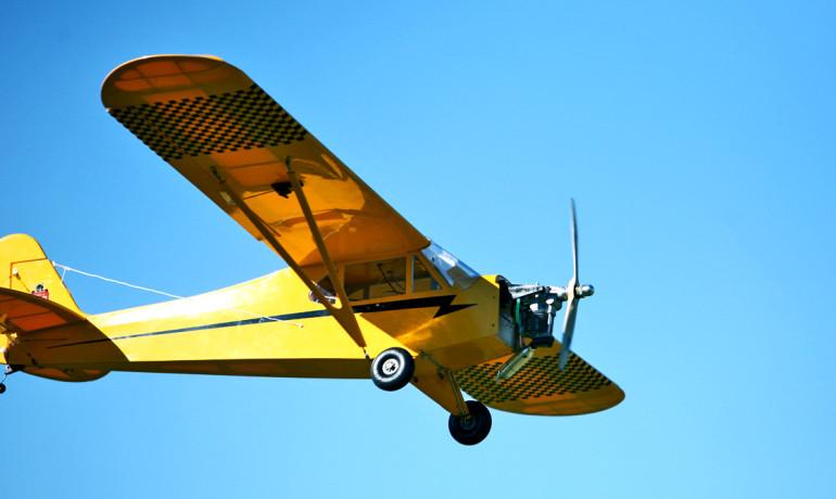 Piper Cub UAV flying