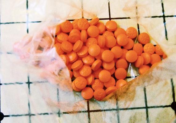 plastic bag of ibuprofen