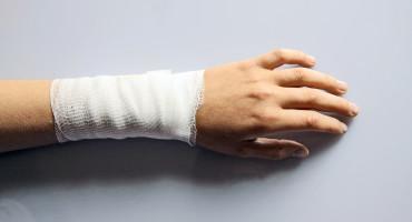 bandaged arm