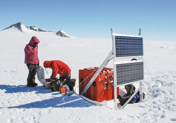 seismic station in Antarctica