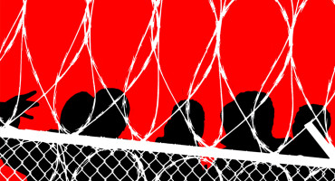 prison fence illustration