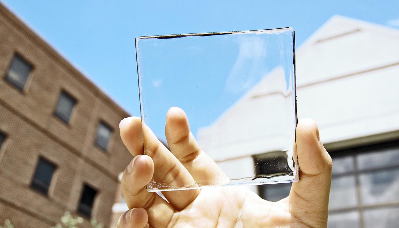 transparent luminescent solar concentrator module