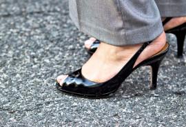black heels and slacks