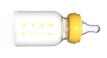 isolated baby bottle