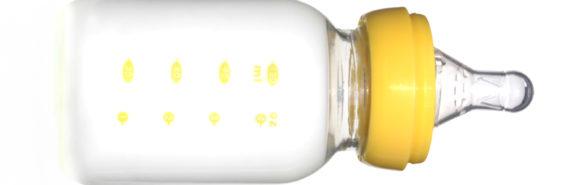 isolated baby bottle