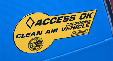 clean air vehicle sticker for California hybrid cars