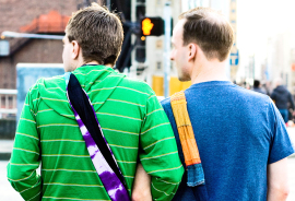 gay couple walking