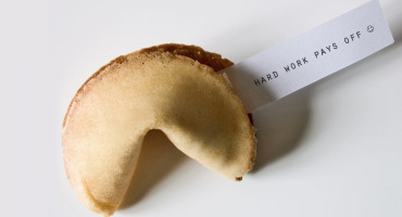 "fortune cookie says ""hard work pays off"""
