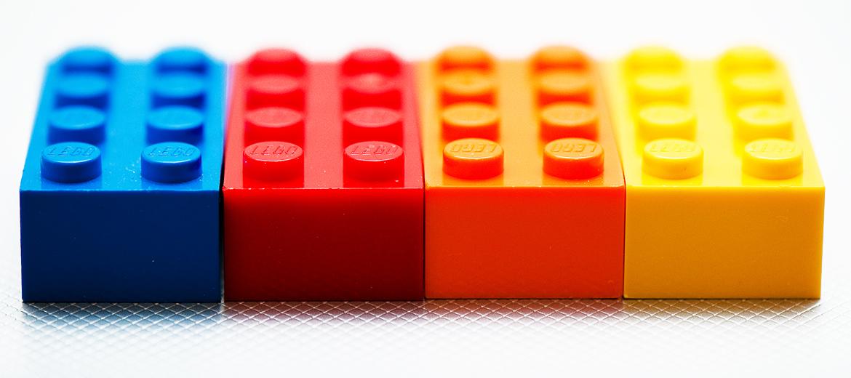 four LEGO bricks