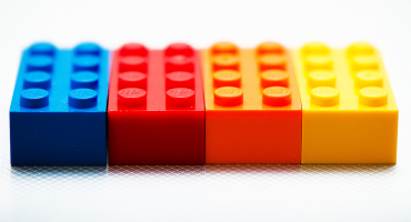 four LEGO bricks