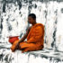 monk meditates in Thailand