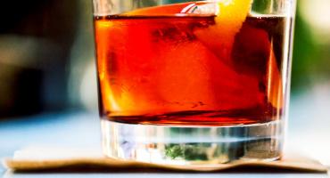 negroni drink on napkin