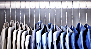 work shirts organized by color