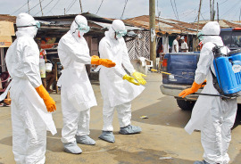 Ebola medical personnel in Liberia