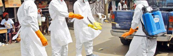 Ebola medical personnel in Liberia