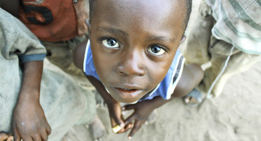young boy in Tanzania