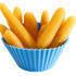 baby carrots in a cupcake cup