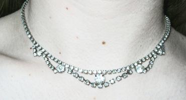 diamond or rhinestone necklace