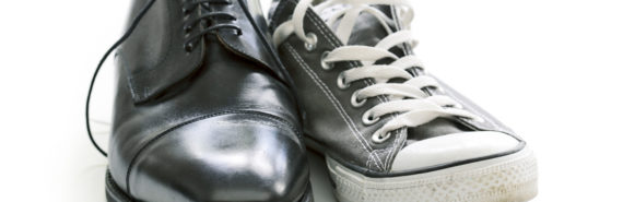 corporate and startup shoes