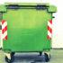 green garbage bin