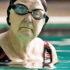 elderly woman in swimming pool