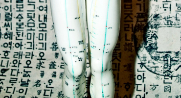 acupuncture figurine knees
