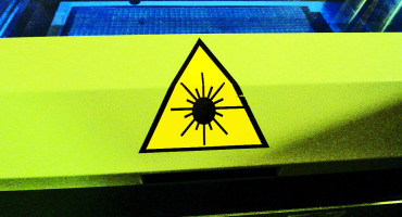 laser danger sign